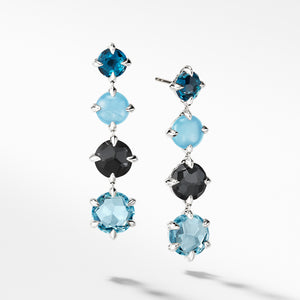 Chatelaine Drop Earrings with Blue Topaz