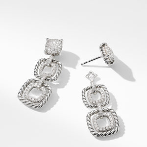 Chatelaine Full Pave Triple Drop Earrings