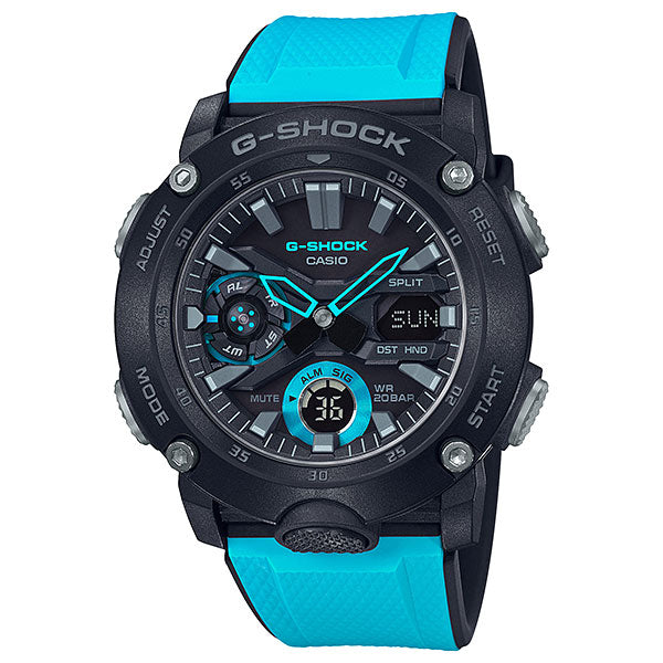Casio G-Shock GA-2000-1A2 Carbon Core Guard Blue & Black Watch