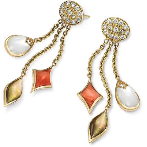 Kabana Blush Collection Earrings with Spiny Oyster and Mother of Pearl Inlay GECF244MMS