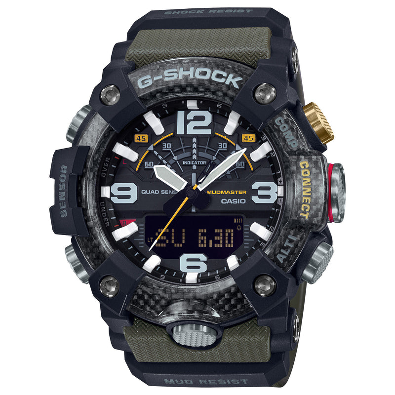 CASIO G-Shock GG-B100-1A3 Green Mudmaster Carbon Core Watch