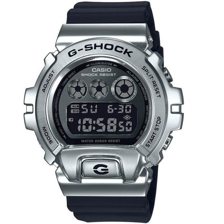 Casio G-Shock GM6900-1 Silver Steel Metal Bezel 25th Anniversary Watch