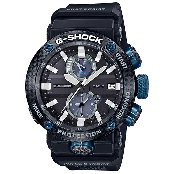 CASIO G-SHOCK GWR-B1000-1ACR Gravity Master G-CARBON Core Blue & Black