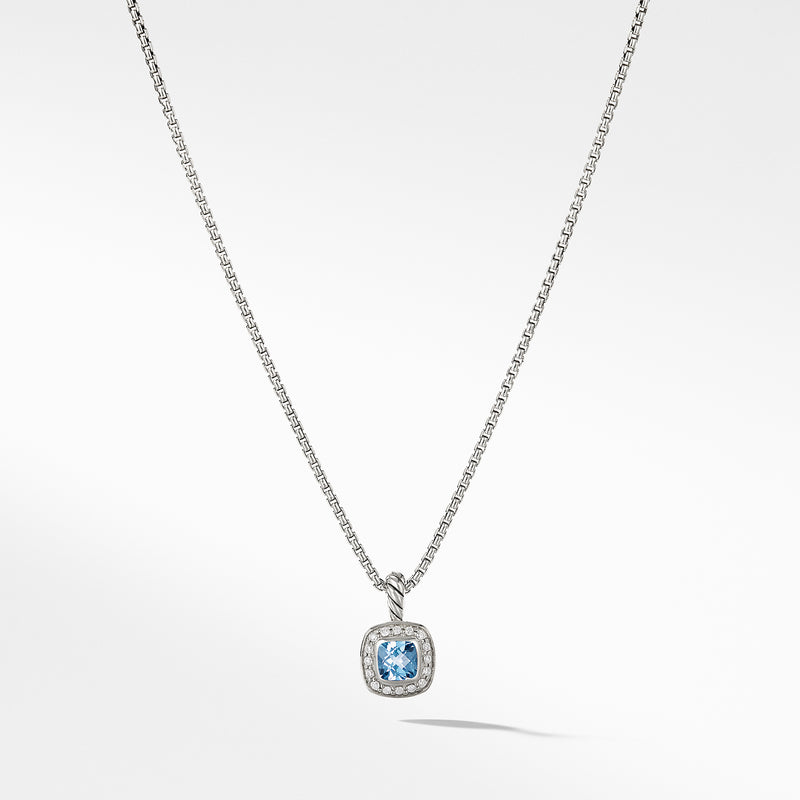Albion Kids Necklace with Blue Topaz and Diamonds, 4mm