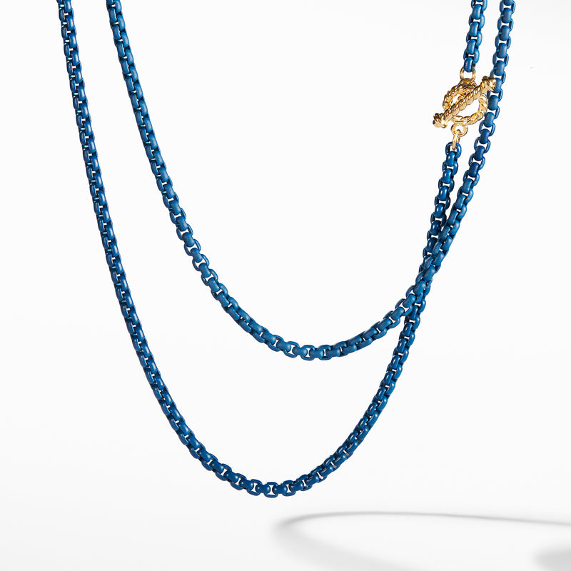 DY Bel Aire Chain Necklace in Navy with 14K Gold Accents