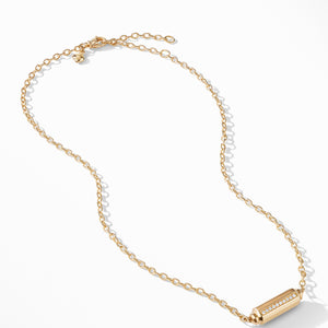 Barrels Station Necklace with Diamonds in 18K Gold
