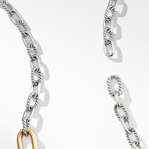 DY Madison Convertible Chain Link Necklace with 18K Yellow Gold