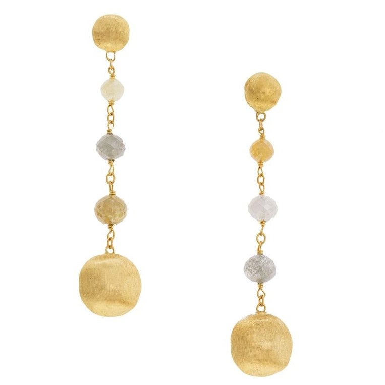 Marco Bicego Raw Diamond Drop Africa Earrings OB1581
