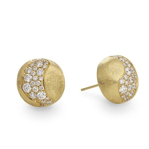 Africa diamond stud earrings, Marco Bicego at NAGI Jewelers