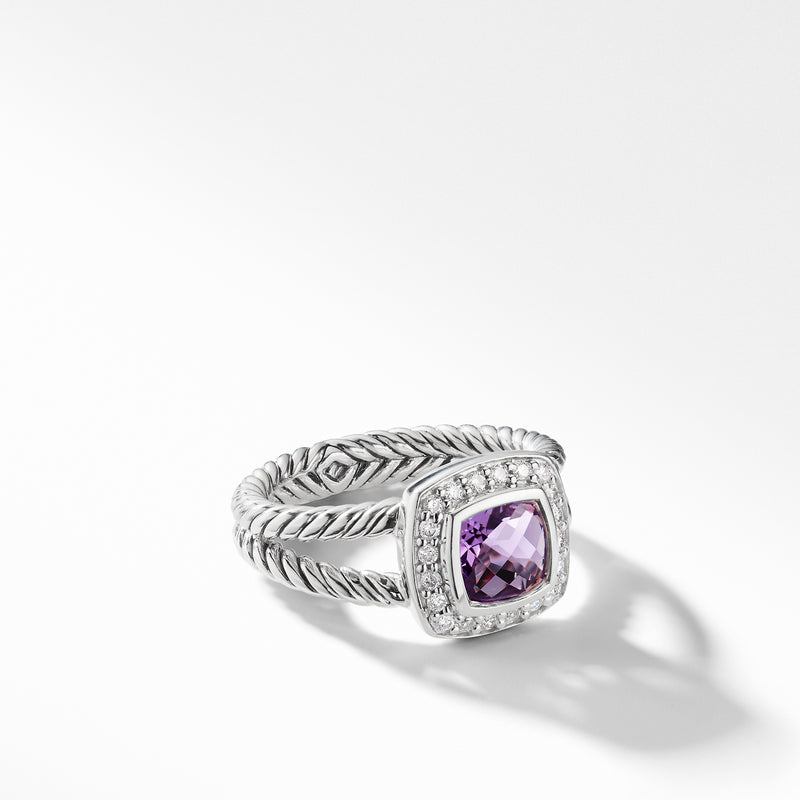 david yurman Albion 12MM Petite Ring with Diamonds amethyst