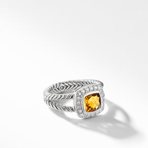 david yurman Albion 12MM Petite Ring with Diamonds citrine