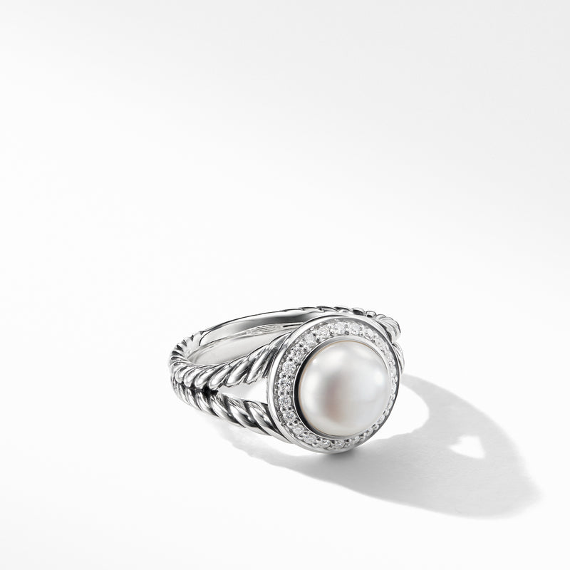 Albion Pearl Ring with Diamonds