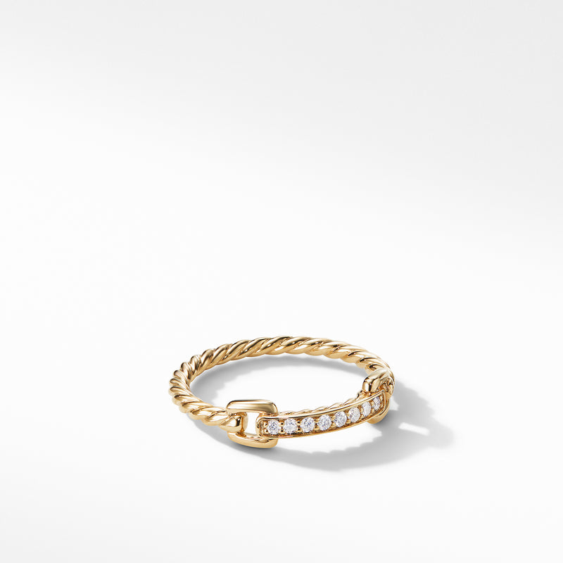 Petite Pave Ring with Diamonds in 18K Gold