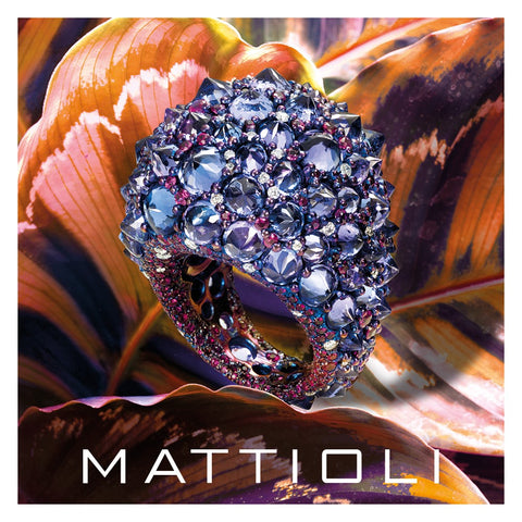 Mattioli Rêve_r Ring in Old Cut Diamonds, Titanium, Tanzanite and White Gold