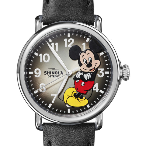 Shinola Limited-Edition Confident Mickey Mouse Runwell 41mm Black Watch