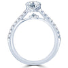 Point of Love Round Brilliant 1 Carat Diamond Shank Platinum Engagement Ring