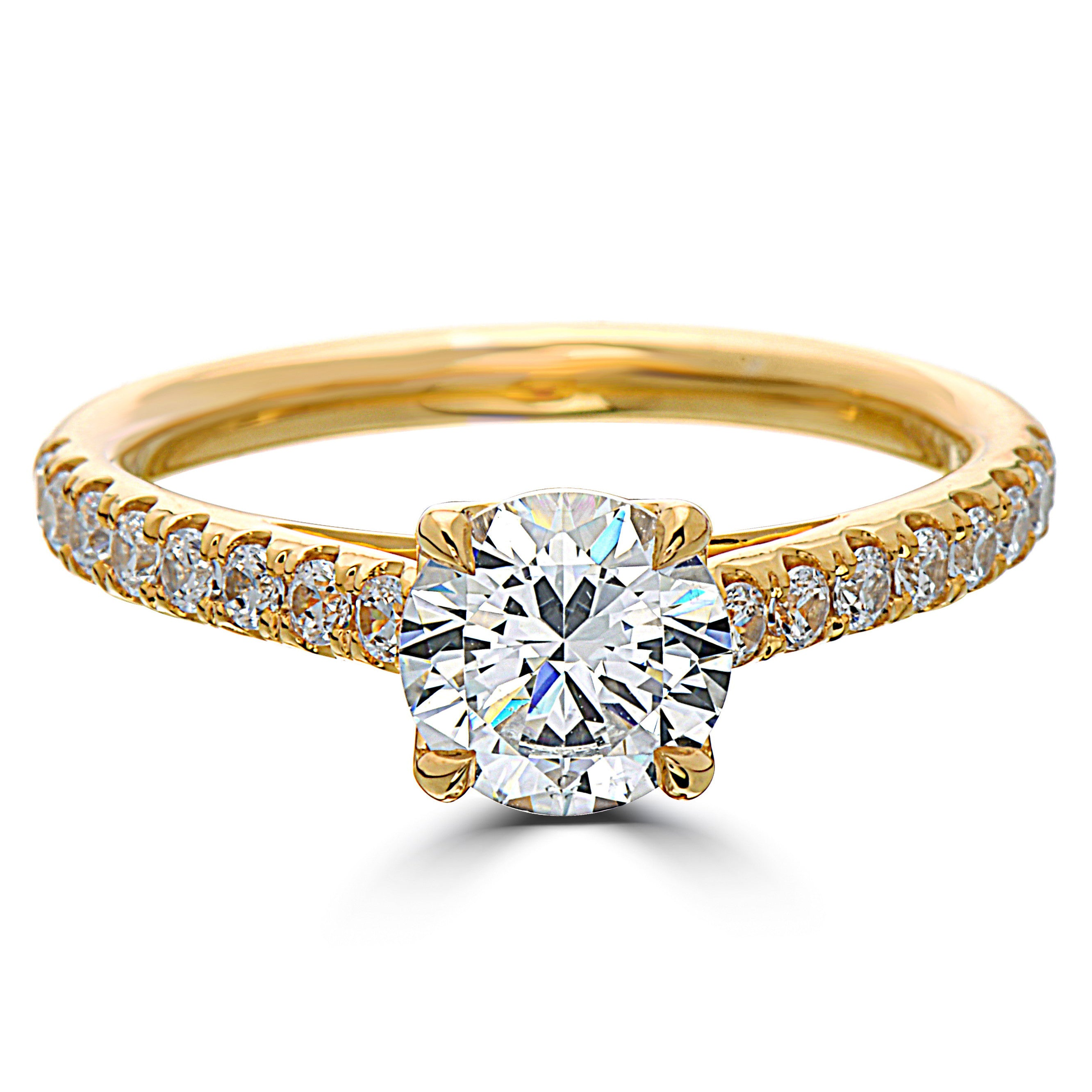 classic ring twist solitaire gold rings engagement white kingston products diamond
