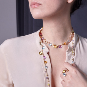 Marco Bicego necklace with multi-colored semi-precious stones CB1871 MIX01