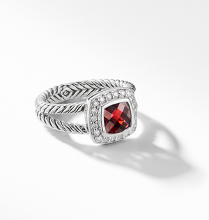 david yurman Albion 12MM Petite Ring with Diamonds red