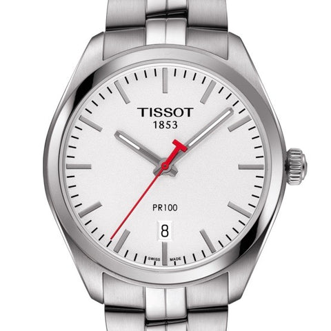 Tissot Mens PR100 NBA Special Edition Silver Dial Quartz Watch T1014101103101