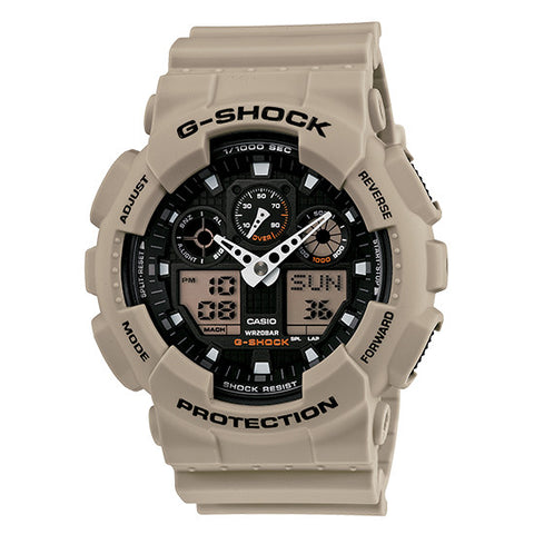 Casio G-Shock Analog-Digital Military Sand Case and Strap Watch GA100SD-8A