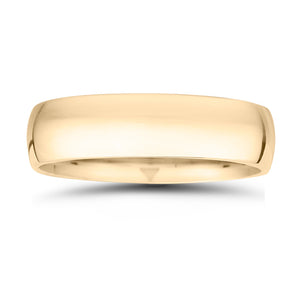14k Gold 6MM High Dome Gents Wedding Band