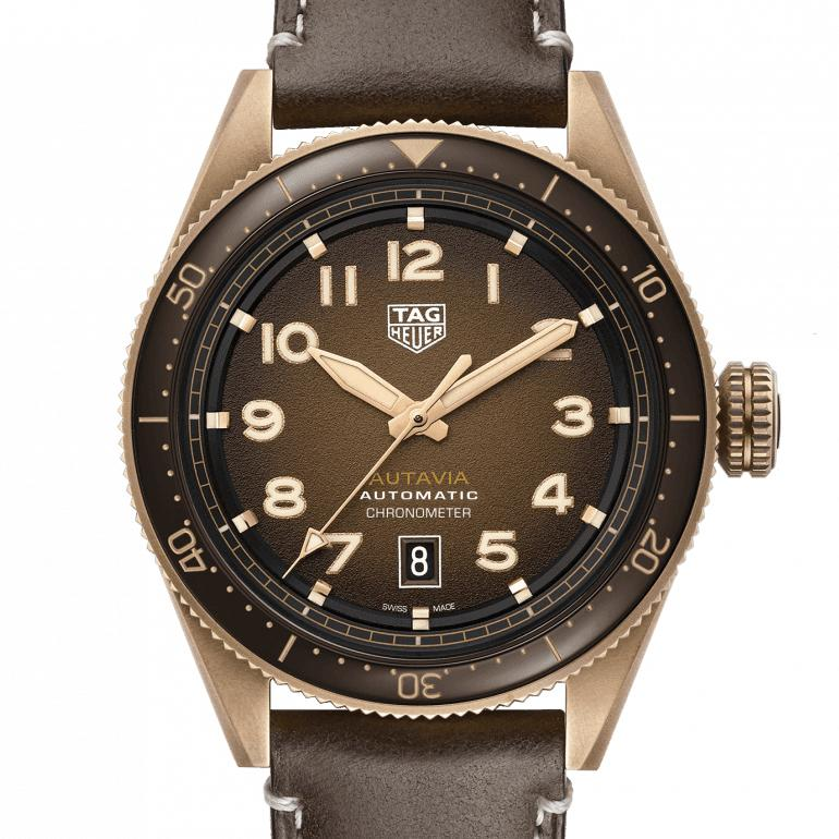 TAG Heuer Autavia Calibre 5 Automatic Bronze Watch 42mm Chocolate Brown WBE5191.FC8276