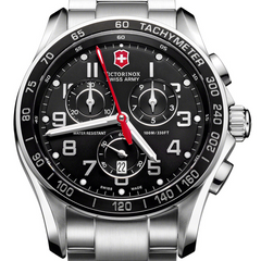 Victorinox Swiss Army Chrono Classic XLS Black Dial Steel Watch 241443