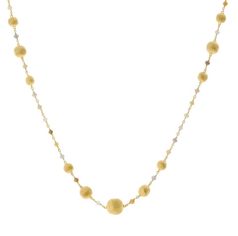 Marco Bicego 18K Africa Raw Diamond Necklace CB2234