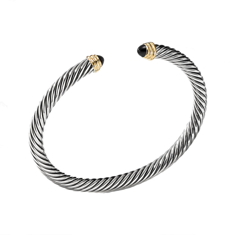 5MM Classic Cable Bracelet with Gold