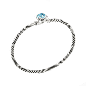 Chatelaine Round 3MM Bracelet with Hook Clasp