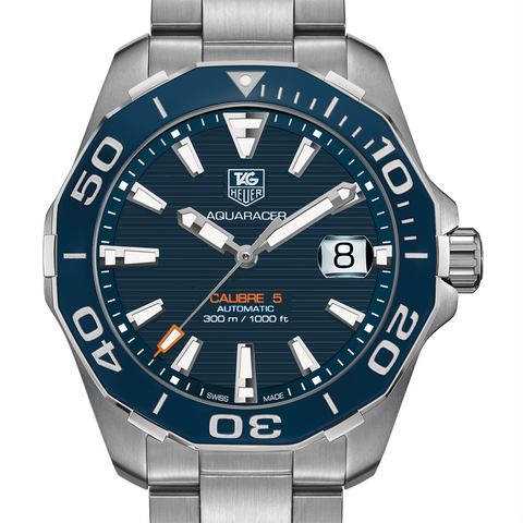 Tag Heuer AQUARACER 300M Calibre 5 Automatic Blue Watch 41mm Ceramic Bezel WAY211C.BA0928