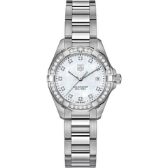 Tag Heuer Aquaracer Lady 300 M 27mm Stainless Steel Diamond Bezel Quartz Watch WAY1414.BA0920