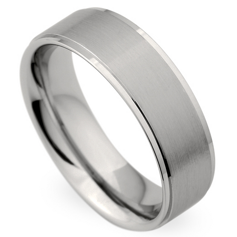 Christian Bauer Men's 18K White Gold Brushed Wedding Band Ring