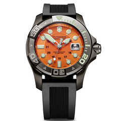Victorinox Swiss Army Dive Master 500 Watch Orange Dial Black Rubber Strap 241428