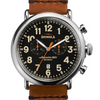 Shinola Runwell Chronograph 47mm Black Dial Brown Leather Men's Watch S0110000044