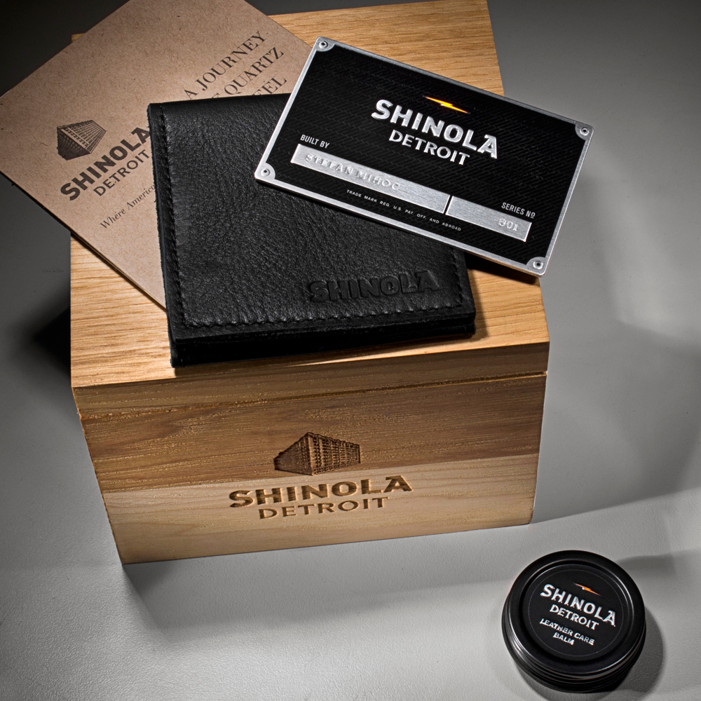 Shinola 47mm Runwell Black Dial Tan Leather Watch 10000011