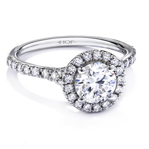 Hearts on Fire Transcend Halo Round Diamond Engagement Ring