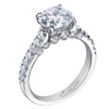 La Mer Round Diamond Engagement Ring Platinum 2.00 carat