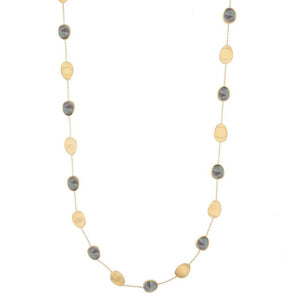 Marco Bicego 18k Yellow Gold Long Lunaria Black Mother of Pearl Necklace 36in. CB2157 MPB Y