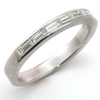 Baguette Diamond Channel Set White Gold Wedding Band Ring 18K