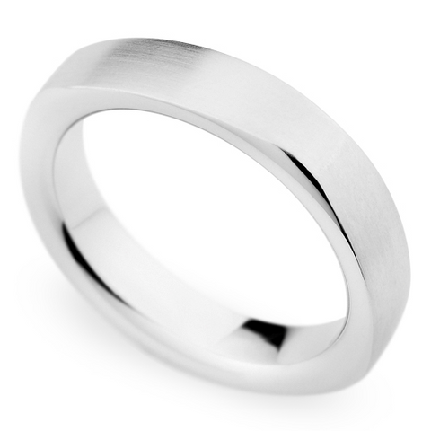 Christian Bauer Men's Palladium 5mm Brushed Wedding Band Ring