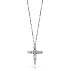 Roberto Coin TINY TREASURES DIAMOND CROSS NECKLACE Pendant