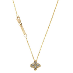 Roberto Coin Princess Flower Diamond Pendant Small 18K Yellow Gold