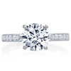 Mirabeau Round Diamond Pave Platinum Engagement Ring