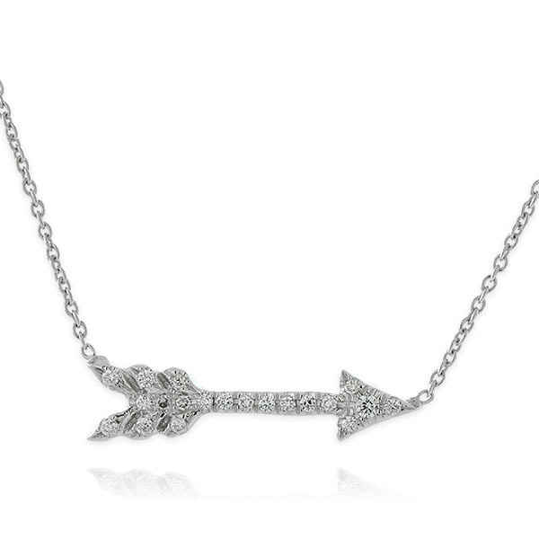 nagi jewelers cupid's arrow necklace by Roberto coin