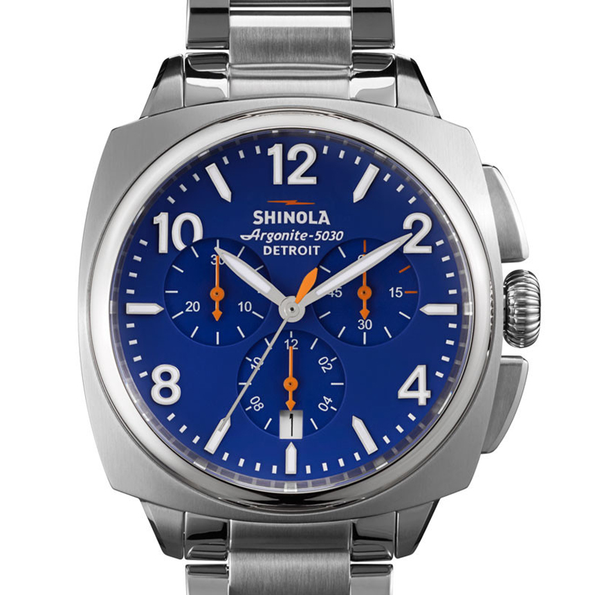 Shinola Brakeman 40mm Blue Dial Chronograph Stainless Steel Watch S0110000127