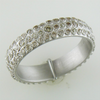 Armenta Multi Eternity Stackable Sterling Silver Diamond Ring 08981