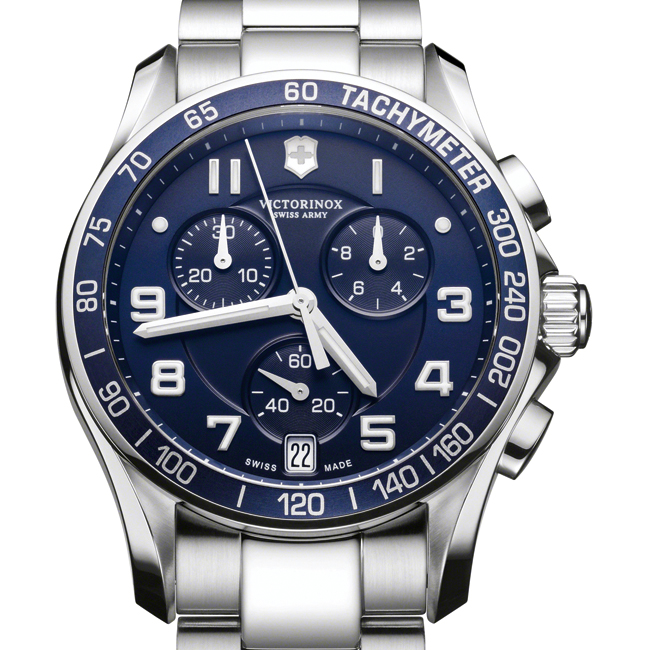 Victorinox Swiss Army Chrono Classic Blue Dial Steel Watch 241497