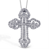 Simon G. Double Cross in a Cross Diamond Pendant Necklace 18K LP4075